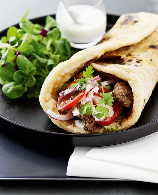 kebab brød opskrift